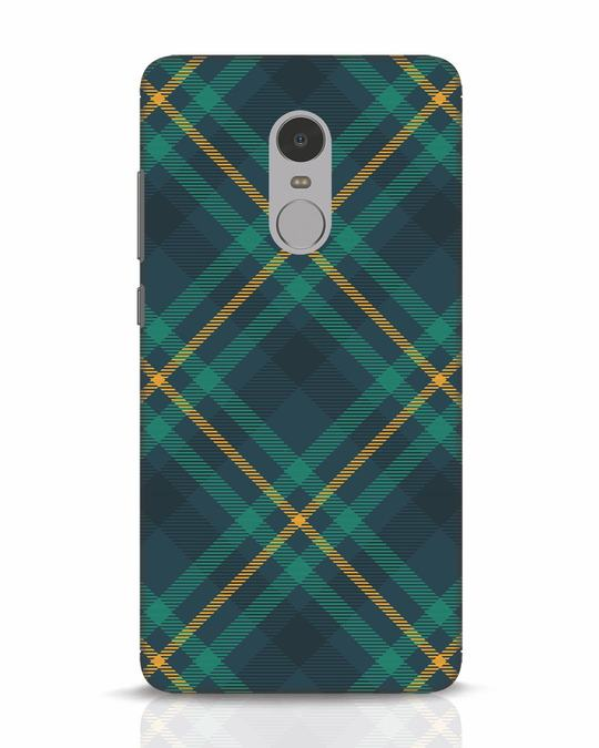 Shop Green Tartan Xiaomi Redmi Note 4 Mobile Cover-Front