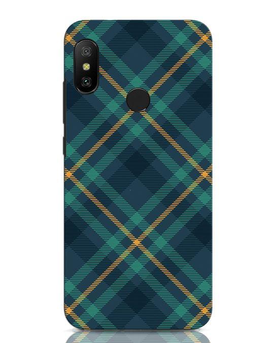 Shop Green Tartan Xiaomi Redmi Note 6 Pro Mobile Cover-Front