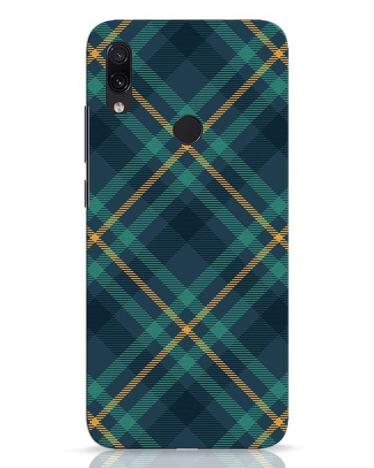 Shop Green Tartan Xiaomi Redmi Note 7 Pro Mobile Cover-Front