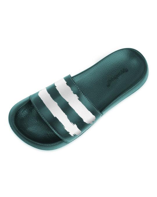 Shop Green White Strap Lightweight Men's Slider-Design