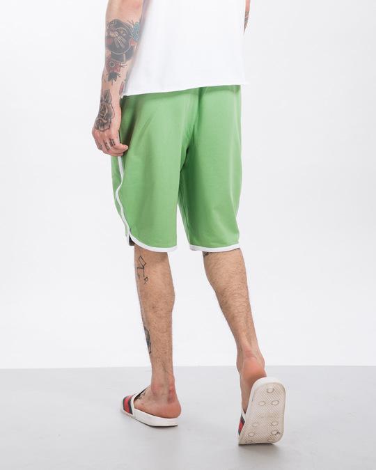 Shop Greenery-White Runner Fleece Shorts-Design