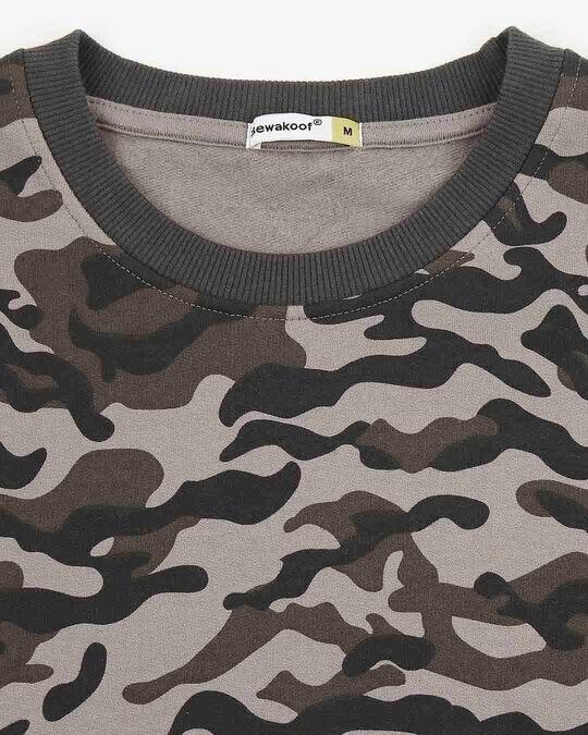 Shop Grey Camo Crewneck Camo Sweatshirt