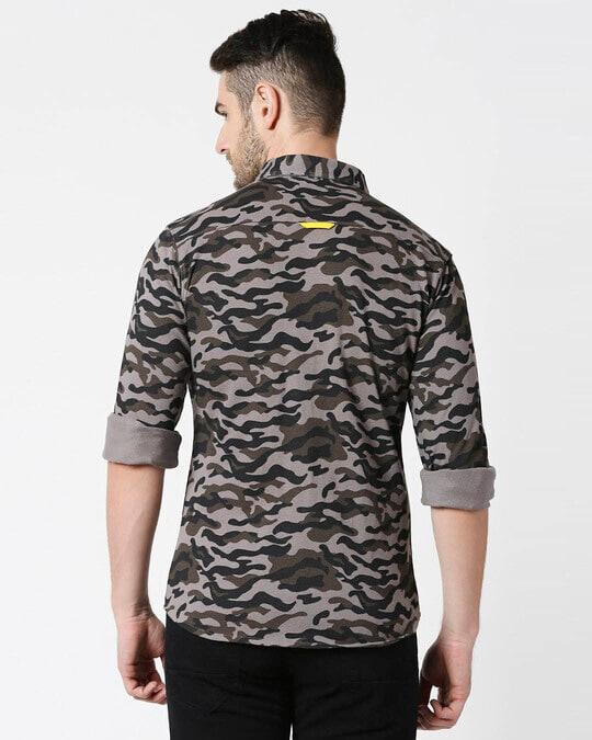 Shop Grey Camo Full Sleeve Camo Shirt-Full