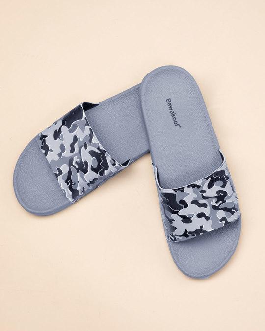 Shop Grey Camo Sliders-Front