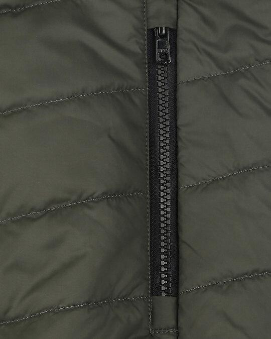 Shop Grey Camo Two Block Puffer Jacket