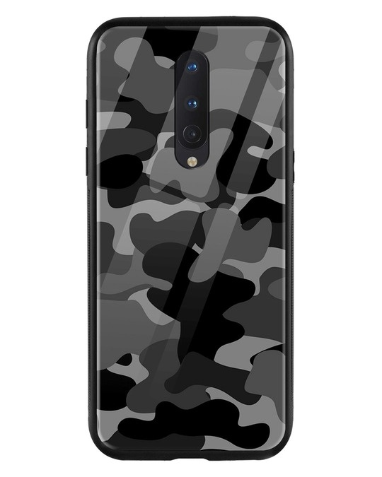 Shop Grey Camouflage OnePlus 8 Mobile Cover-Front