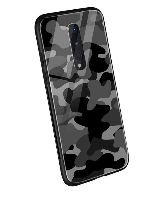 Shop Grey Camouflage OnePlus 8 Mobile Cover-Back