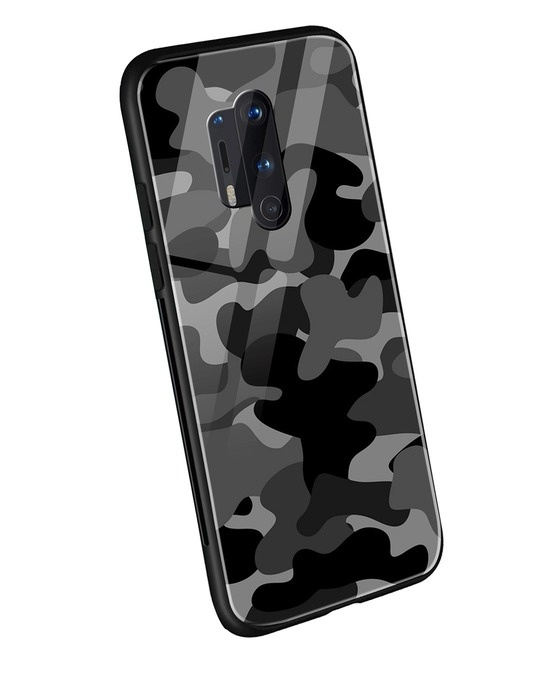 Shop Grey Camouflage OnePlus 8 Pro Mobile Cover-Back