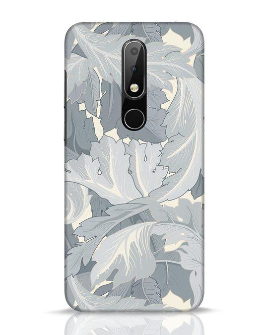 Shop Grey Floral Nokia 6.1 Plus Mobile Cover-Front