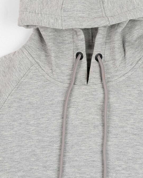 Shop Grey Melange Hoodie Sweatshirt