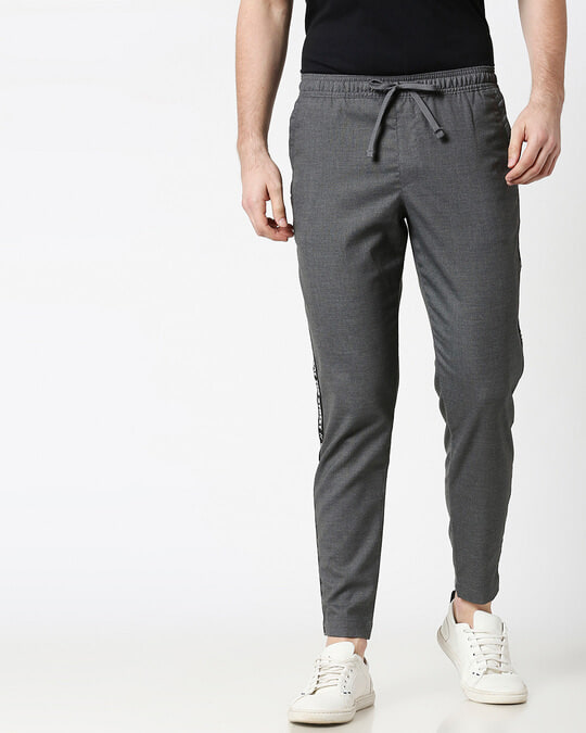 Shop Grey Men's Casual Jogger Pants-Back