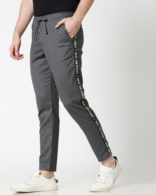 Shop Grey Men's Casual Jogger Pants-Design