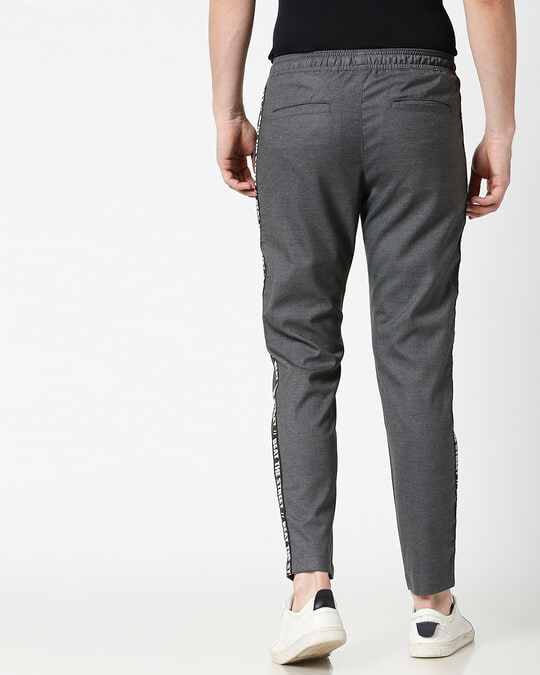 Shop Grey Men's Casual Jogger Pants-Full