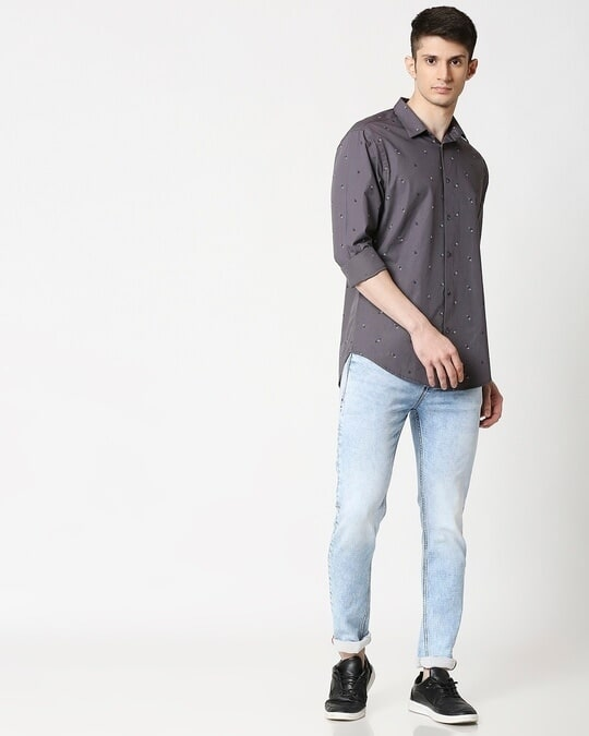 Shop Grey Print AOP Shirt