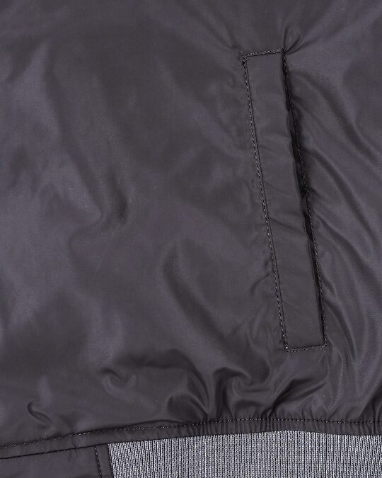 Shop Grey Scuba Strip Bomber Jacket
