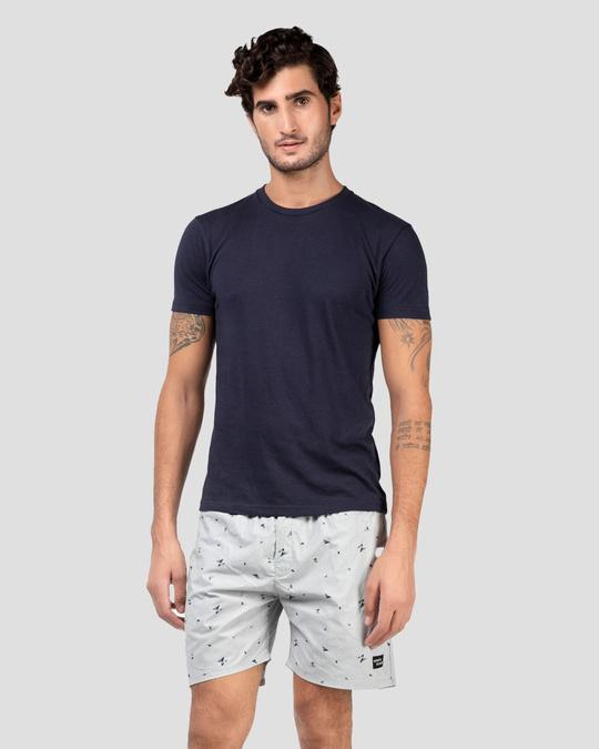 Shop Whatsdown Grey Triangle Boxers-Full