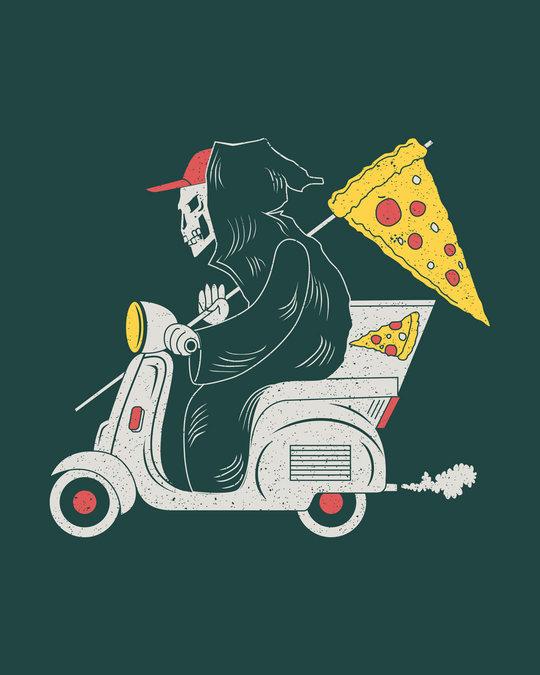 Shop Grim Pizza Round Neck 3/4th Sleeve T-Shirt