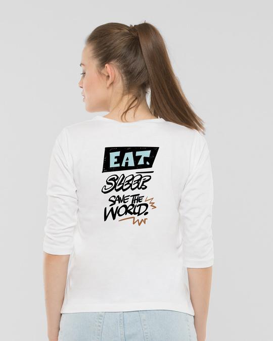 Shop Groot Munching Round Neck 3/4 Sleeve T-Shirts (GOTGL)-Design
