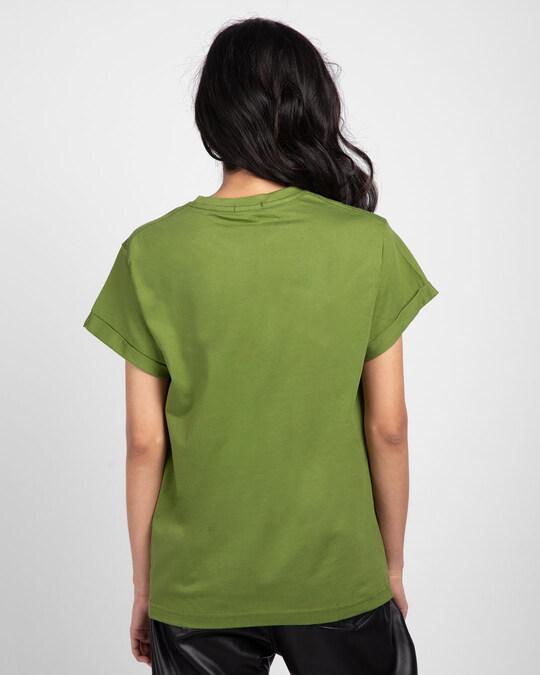 Shop Grow Positive Thoughts Boyfriend T-Shirt Woodbine Green-Back