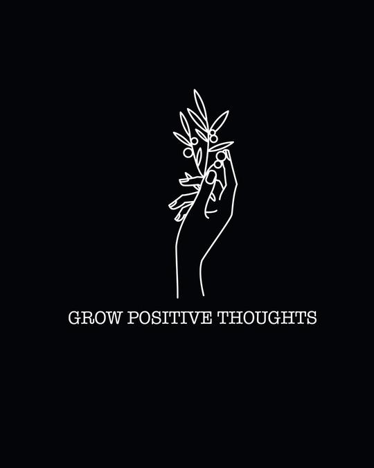 Shop Grow Positive Thoughts Sweatshirt Hoodie Black-Full