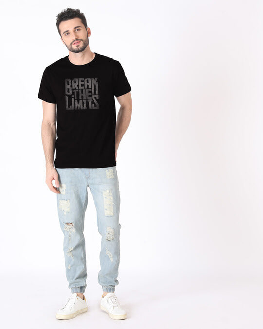 Shop Grunge Limits Half Sleeve T-Shirt