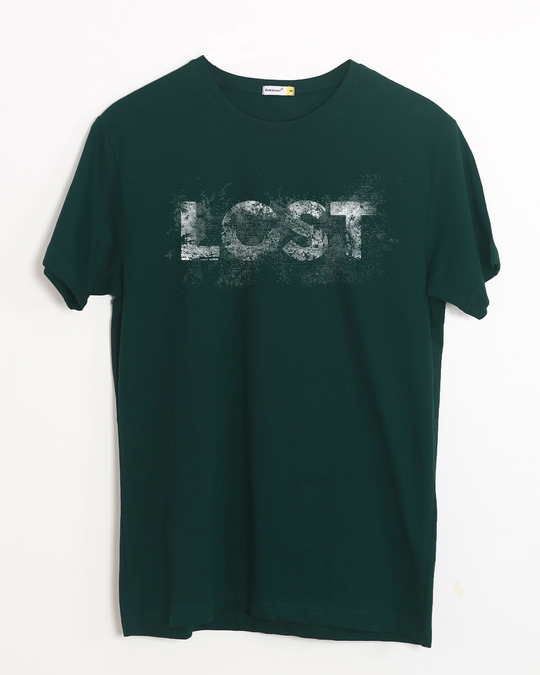 Shop Grunge Lost Half Sleeve T-Shirt-Front