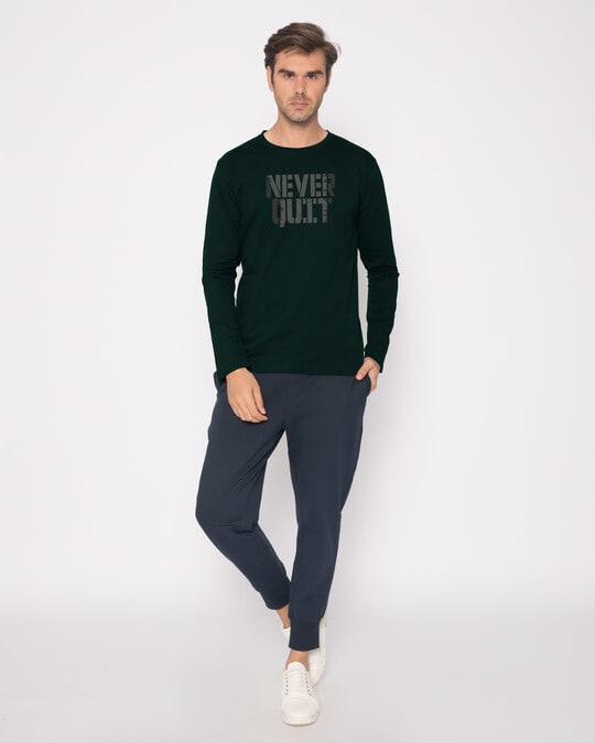 Shop Grunge Never Quit Full Sleeve T-Shirt