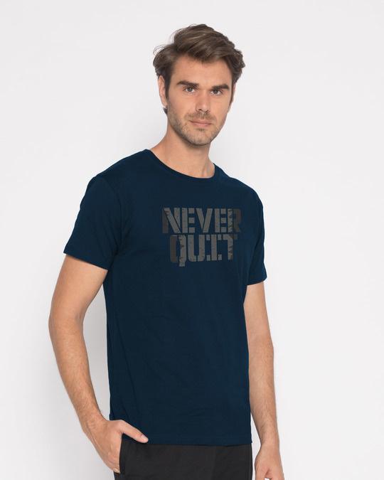 Shop Grunge Never Quit Half Sleeve T-Shirt-Full