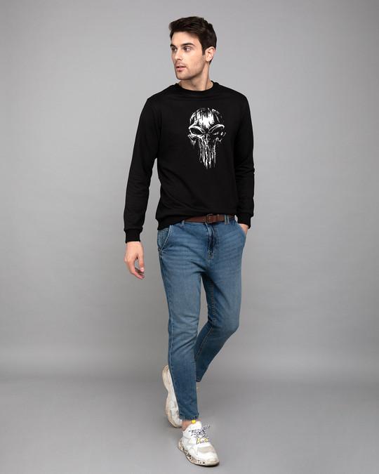 Shop Grunge Skull Logo Glow In Dark Fleece Light Sweatshirt-Design