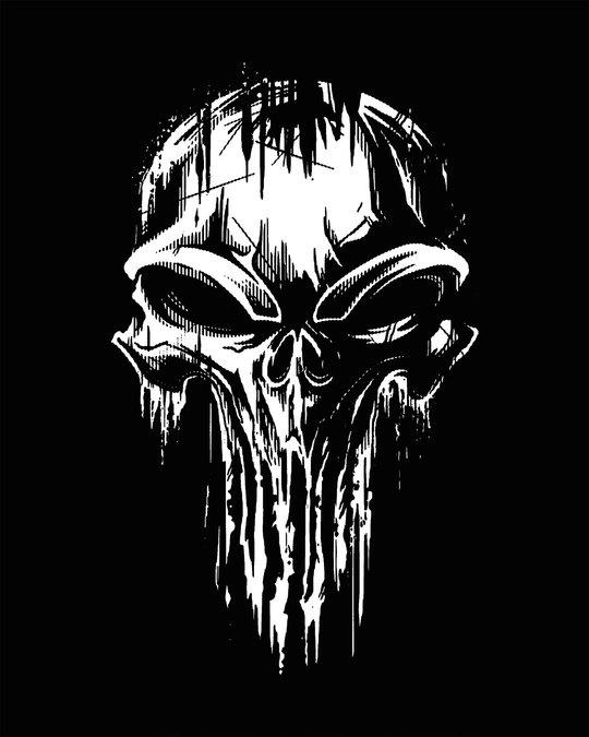 Shop Grunge Skull Logo Glow In Dark Fleece Light Sweatshirt-Full