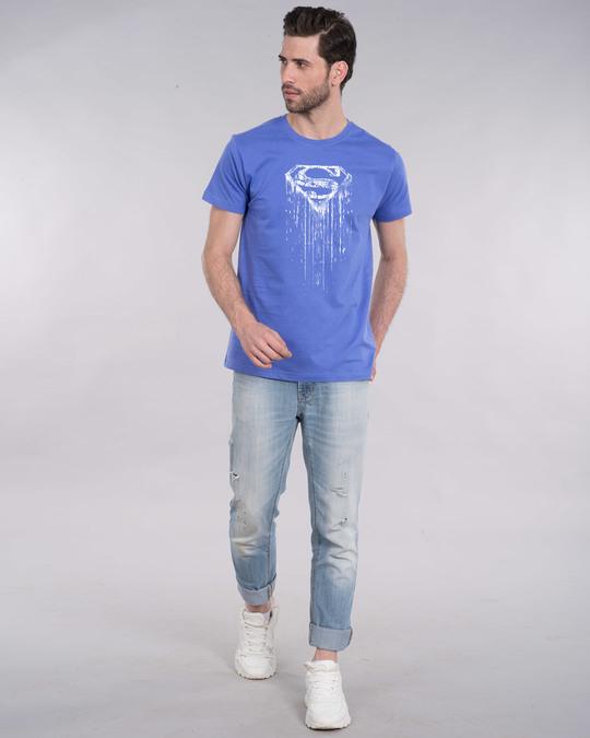 Shop Grunge Superman Half Sleeve T-Shirt (SL) (GID)-Full