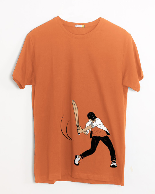 Shop Gully Cricket Half Sleeve T-Shirt-Front