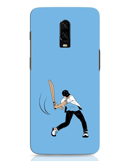 Shop Gully Cricket OnePlus 6T Mobile Cover-Front