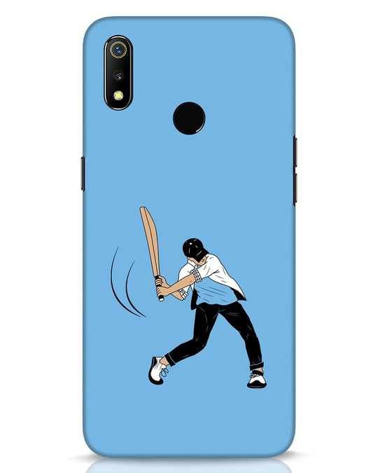 Shop Gully Cricket Realme 3 Mobile Cover-Front
