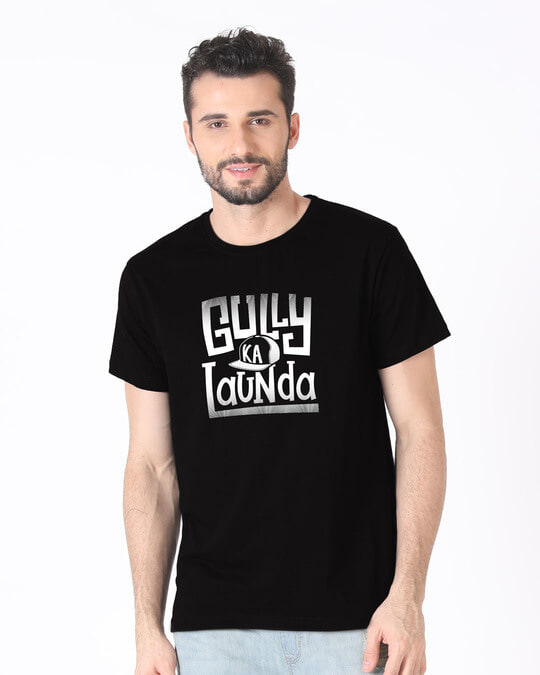 Shop Gully Ka Launda Half Sleeve T-Shirt-Back