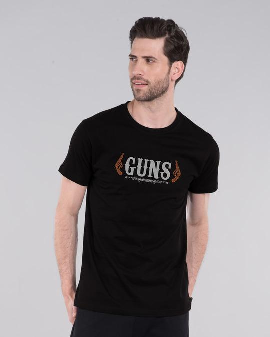 Shop Gun men Half Sleeve T-Shirt-Front