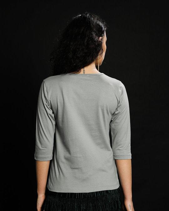 Shop Gym Chalu Round Neck 3/4th Sleeve T-Shirt-Back