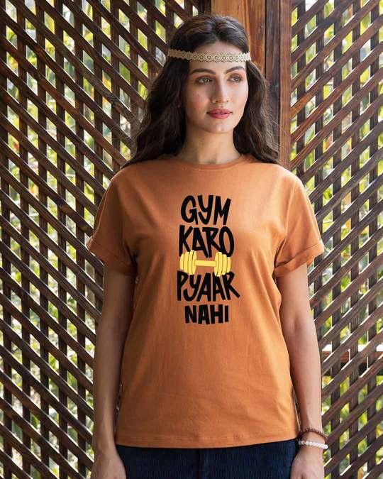 Shop Gym Karo Boyfriend T-Shirt-Front