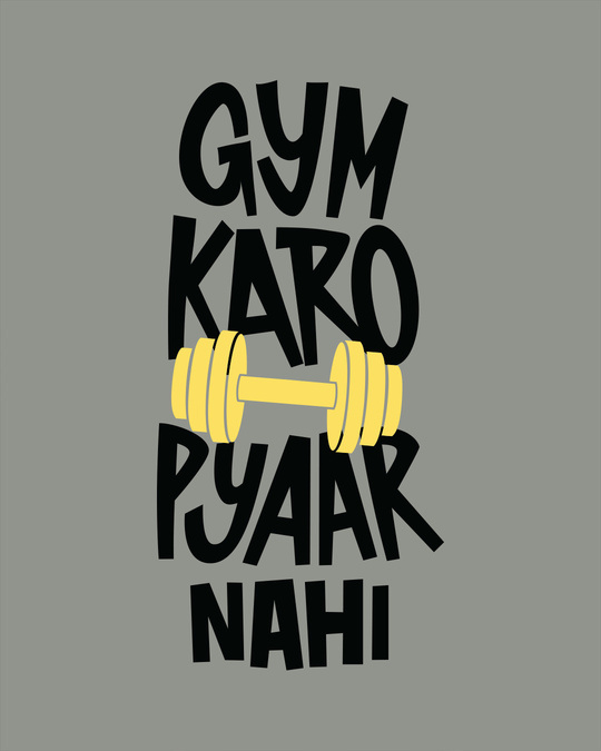 Shop Gym Karo Half Sleeve T-Shirt-Full