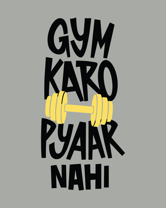 Shop Gym Karo Half Sleeve T-Shirt-Full