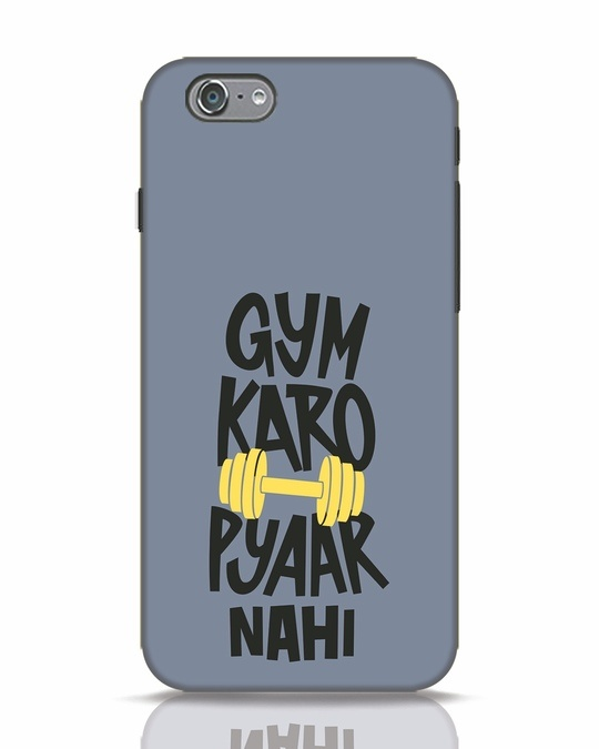 Shop Gym Karo iPhone 6 Mobile Cover-Front