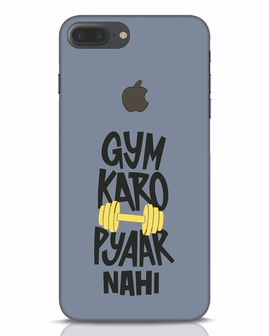 Shop Gym Karo iPhone 7 Plus Logo Cut Mobile Cover-Front