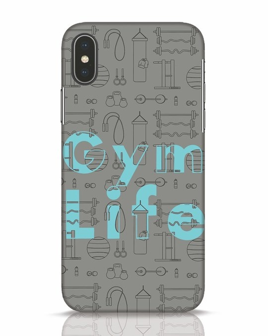 Shop Gymlife iPhone X Mobile Cover-Front