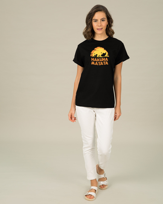 Shop Hakuna Matata Sunset Boyfriend T-Shirt (DL)-Full