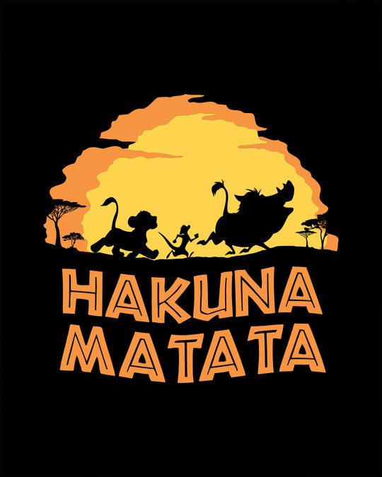 Shop Hakuna Matata Sunset Full Sleeve T-Shirt (DL)
