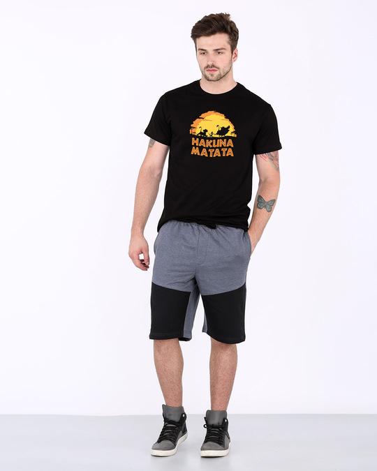 Shop Hakuna Matata Sunset Half Sleeve T-Shirt (DL)