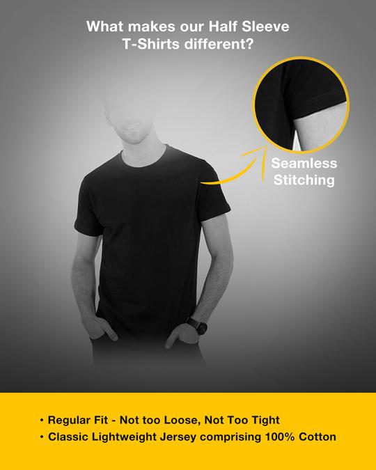 Shop King Gold Print Half Sleeve T-Shirt-Design