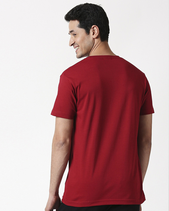 Shop Men's Half Sleeve Pack of 3 (White,Red & Grey)