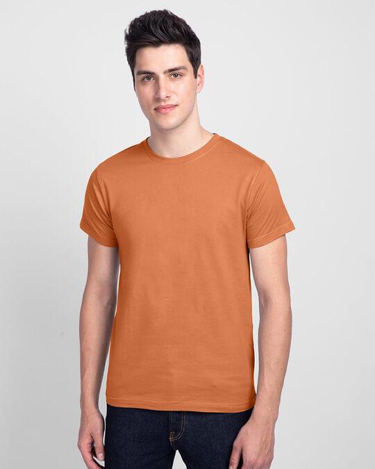 Shop Men's Plain Half Sleeve T-shirt Pack of 2(Black & Vintage Orange)-Design