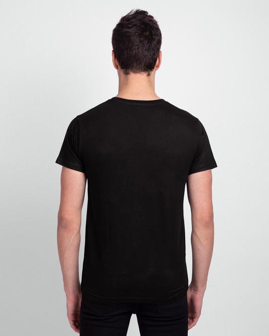Shop Men's Plain Half Sleeve T-shirt Pack of 2(Black & Parachute Purple)-Full